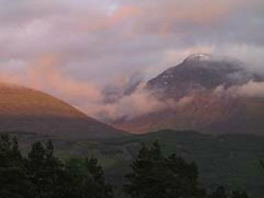 Ben Nevis near the Great Glen Hostel at Banavie